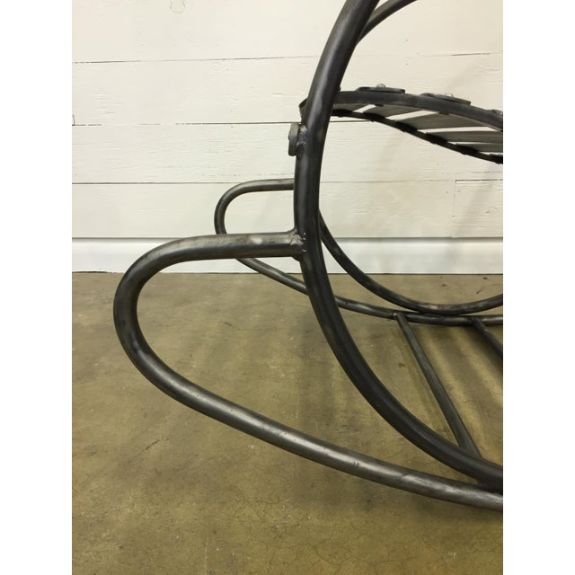 Wrought Iron Porch Rocking Chair - Image 6 of 8