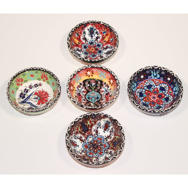 Turkish Tile Bowls - Set of 5 - Image 3 of 6