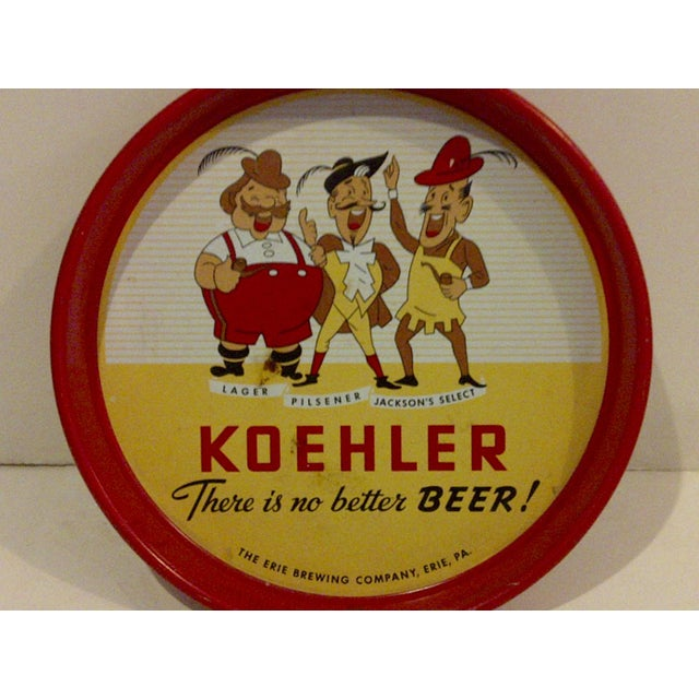 Vintage Quot Koehler Beer Quot Serving Tray Chairish