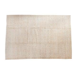 "Distressed Oushak Carpet - 6'10"" X 10'2"""