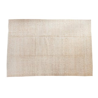 "Distressed Oushak Carpet - 6'10"" X 10'2"""