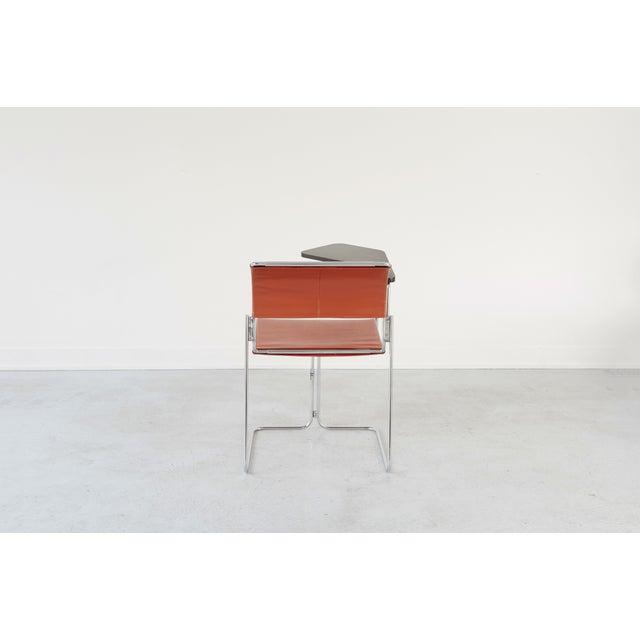 Harter Vintage Orange Vinyl & Chrome Tablet Chair - Image 3 of 6