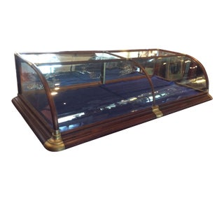 Antique Curved Glass Mercantile Display Case