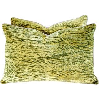 Romo Faux Bois Velvet Pillows -  A Pair