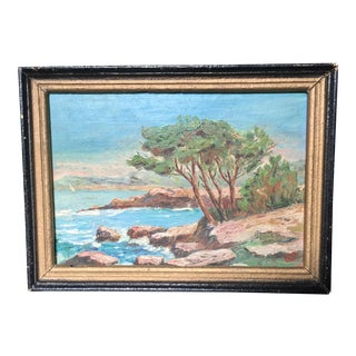 Vintage Mediterranean Provence French Oil Painting