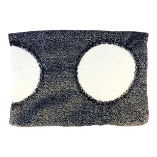 Osamu Mita White & Dark Gray Polka Dot Throw Blanket