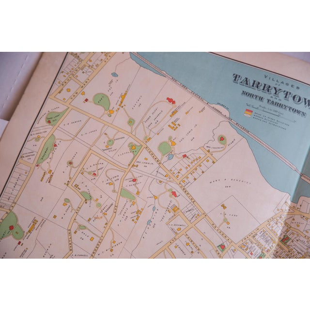 Image of Antique Tarrytown New York Map