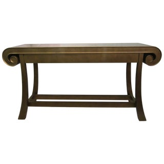 Aged Bronze Finish Console by Century Furniture