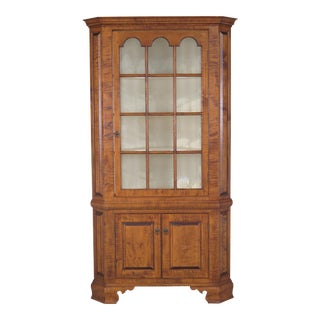 Dr. Dimes Tiger Maple 2 Piece Corner China Cabinet