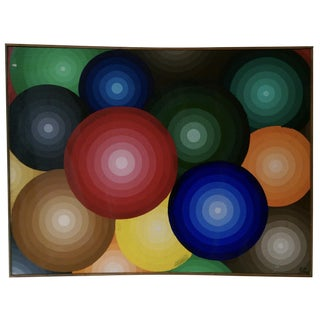Op Art Original Abstract Painting