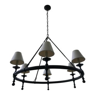 Visual Comfort Bronze Ring Chandelier