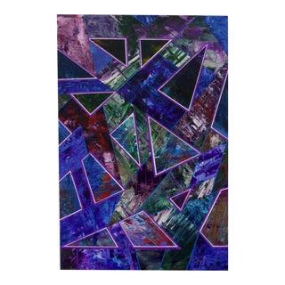 Geometric Acrylic Painting on Canvas