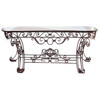 Iron & Marble Neoclassical Console