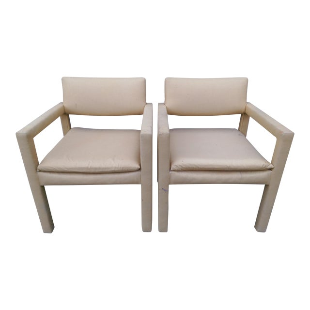 Milo Baughman & Thayer Coggin Parsons Arm Chairs - A Pair - Image 1 of 10