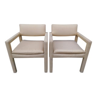 Milo Baughman & Thayer Coggin Parsons Arm Chairs - A Pair