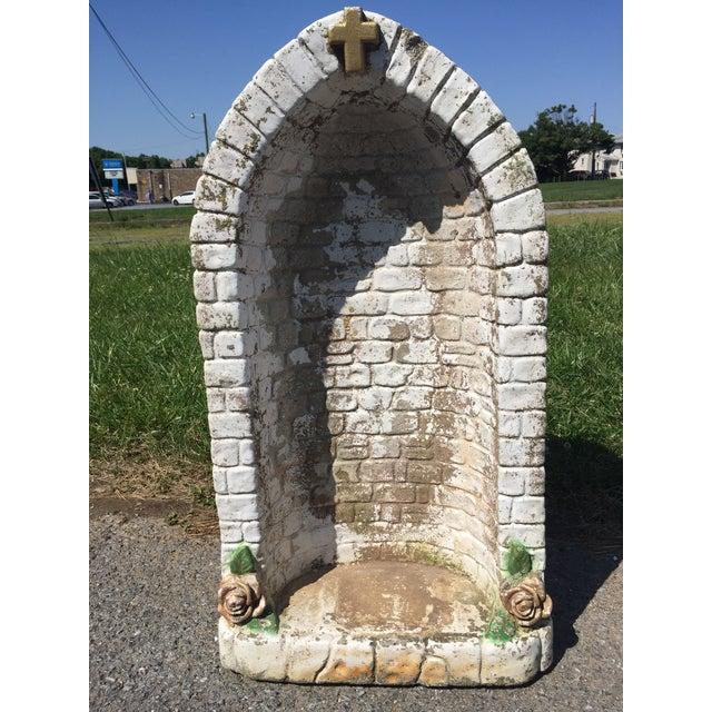 Vintage Concrete Virgin Mary Garden Statue - Image 8 of 11