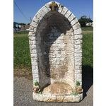 Image of Vintage Concrete Virgin Mary Garden Statue