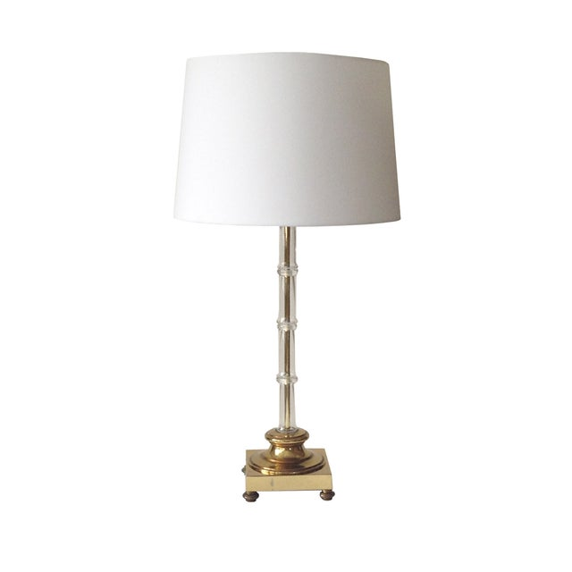 Image of Glass Bamboo Table Lamp