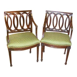 A Pair of Late 18th Italian Neoclassical Armchairs