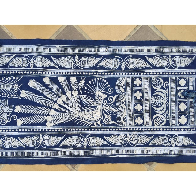 Hill Tribe Hand Batik Table Runner - Image 4 of 5