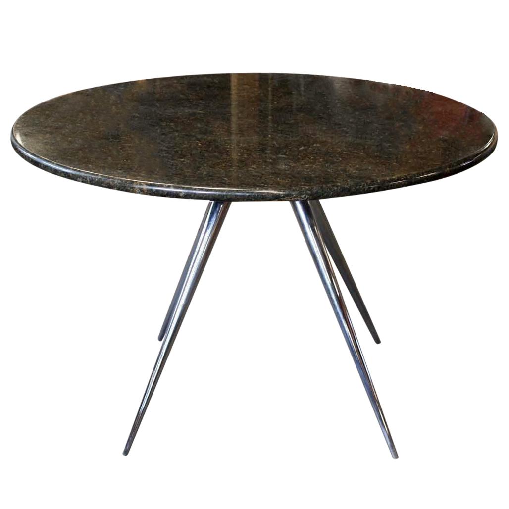 Round Marble Dining Table on Chrome Legs Chairish : bbf23158 fc09 44da 81b0 809bbdc51995aspectfitampwidth640ampheight640 from www.chairish.com size 640 x 640 jpeg 29kB