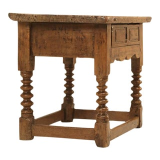 Antique Spanish Walnut End or Side Table