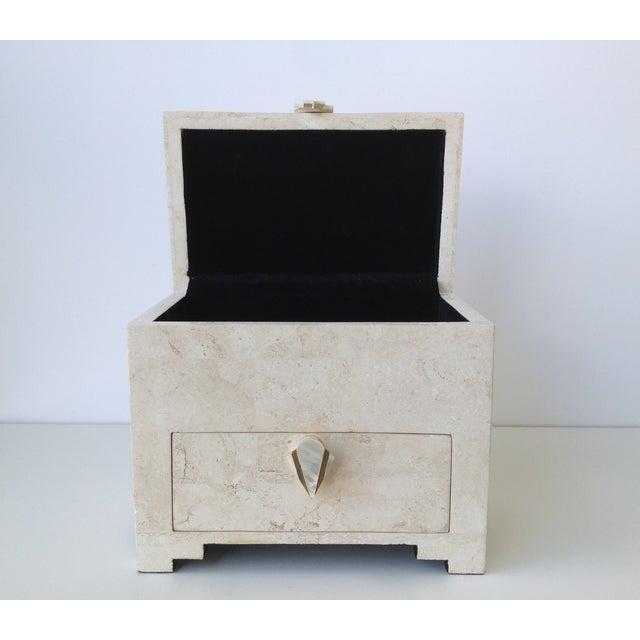 Maitland-Smith Vintage 1970s Tessellated Stone Box - Image 10 of 11