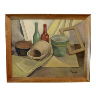 Mid-Century Still Life Painting by K. Stamps