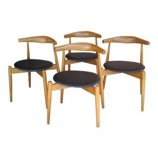 "Danish Modern 'Hans Wegner' ""Ch20"" Elbow Chairs - Set of 4"