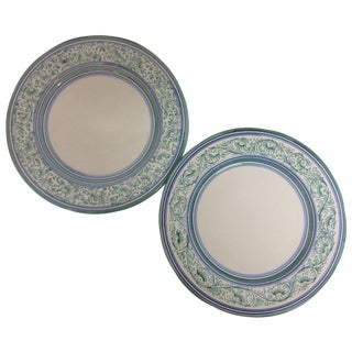 Artistica Italy Ceramic Display Chargers - A Pair