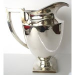 Image of Art-Deco Style Silver Plate Water Pitcher