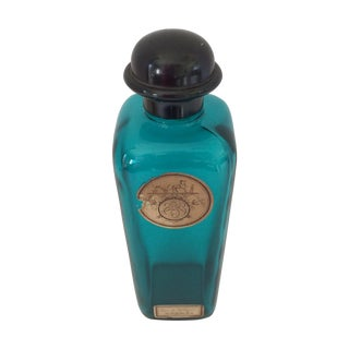 Hermes Vintage Blue Glass Cologne Bottle