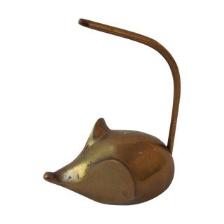 Brass Mouse Note Holder
