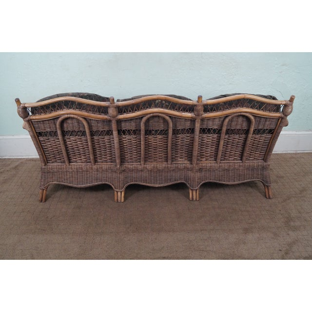 Braxton Culler Wicker Sofa Chairish