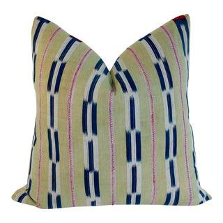 African Baule Ikat Textile Pillow