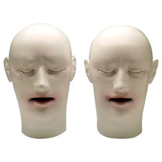 Tanya Batura Twins Clay & Acrylic Sculpture