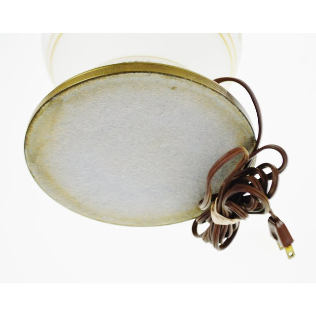 Vintage Satin Glass Table Lamp - Image 10 of 10