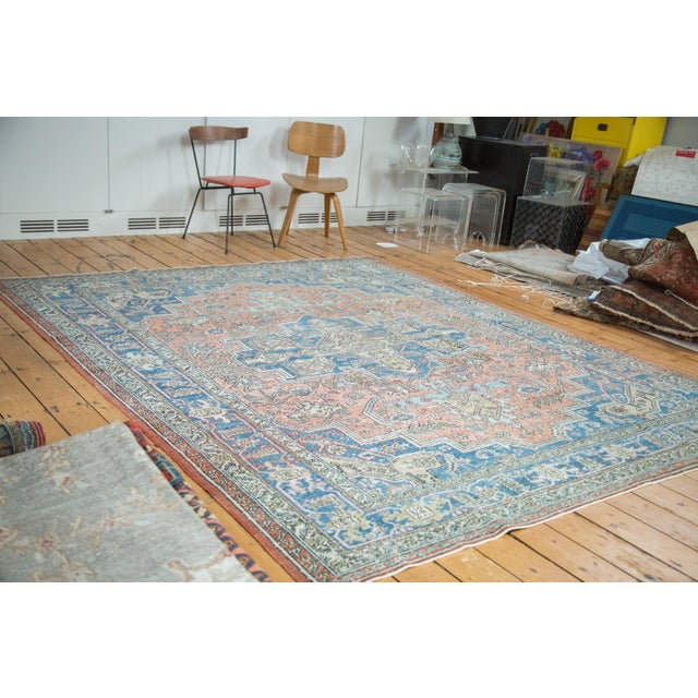 "Mid-Century Distressed Oushak Rug - 8'2"" X 10' - Image 2 of 10"