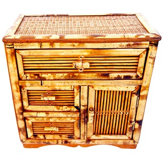 Antique Tortoise Bamboo Jewelry Box