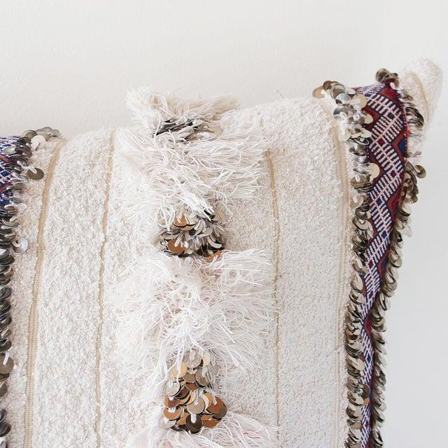 Moroccan Handira Wedding Blanket Pillow VII - Image 5 of 8