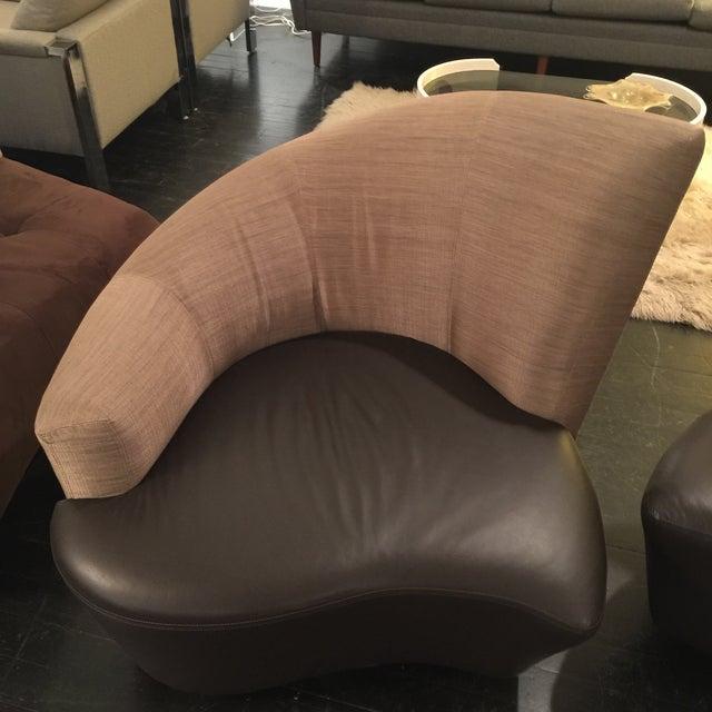 "Vladimir Kagan ""Bilbao"" Swivel Chairs - a Pair - Image 7 of 8"