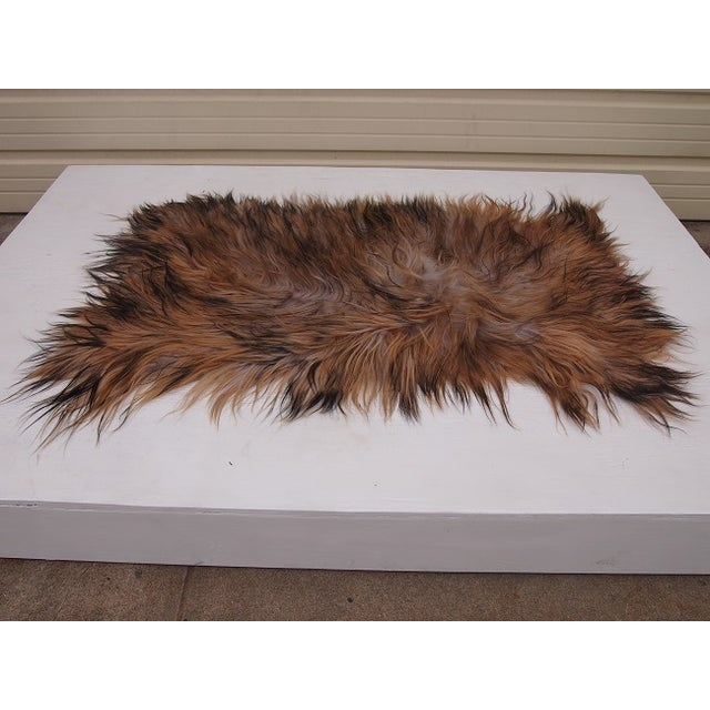 black taupe and brown goat skin rug chairish