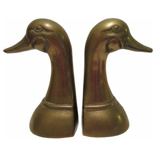 Brass Duck Book Ends