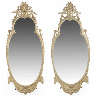 Adam's Style Cream Painted Wall Mirrors - A Pair