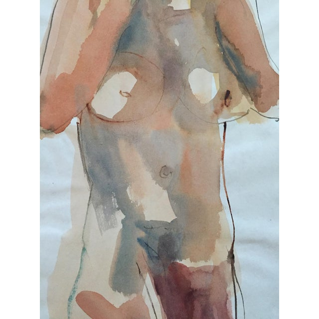 Thelma Corbin Moody Female Nude Standing c. 1970's Painting - Image 4 of 5