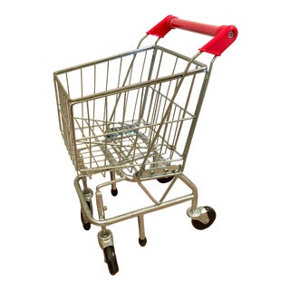 Childs Metal Grocery Cart/Pop Art