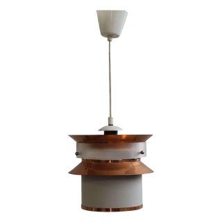 Swedish Copper & Glass Ceiling Light