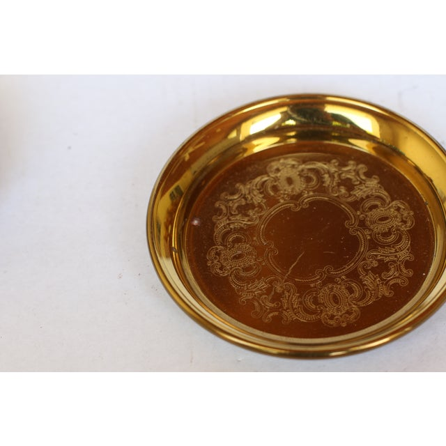 Image of Etched Goldplated Coasters