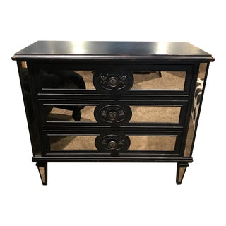 Contemporary Black Mirrored Chest of Drawers
