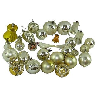 Vintage Christmas Ornaments - Set of 29